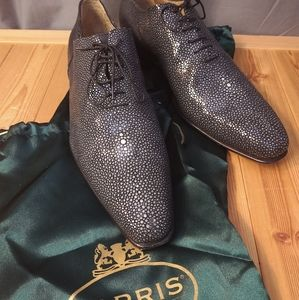 "Harris Shoes - Harris Handmade Stingray Razza Nera 12 Barney""s NY"